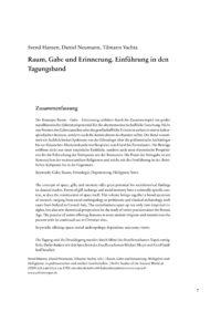 Cover BSA 038 Einleitung Hansen, Neumann, Vachta