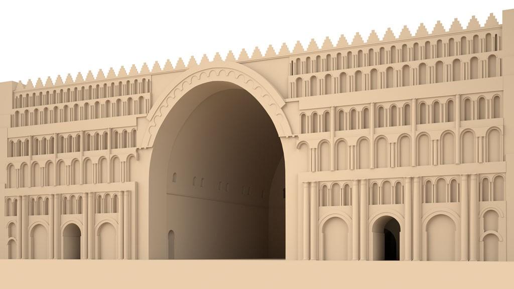 Rekonstruktionshypothese des Taq-e Kisra in Ktesiphon | Visualisierung: Lengyel/Toulouse 2015