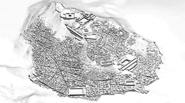 Modell des antiken Pergamon (um 200 n. Chr.) | Visualisierung: Dominik Lengyel, Catherine Toulouse
