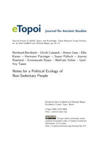 Cover Artikel Bernbeck et al. eTopoi SpV 6