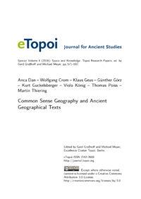 Cover Artikel Dan et al. eTopoi SpV 6