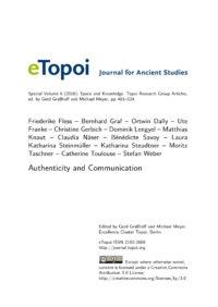 Cover Artikel Fless et al. eTopoi SpV 6