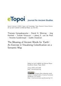 Cover Artikel Georgakopoulos et al. eTopoi SpV 6