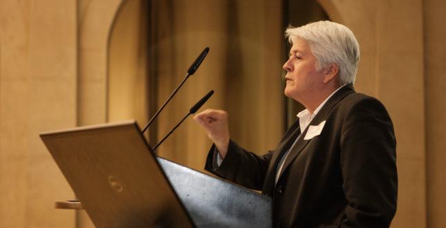 Frederike Fless während einer Rede auf der Kick-off Veranstaltung Edition Topoi | Foto: Waldemar Brzezinski | © EXC Topoi
