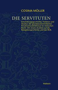 dunkelblaues Cover Die Servituten mit gelber Schrift