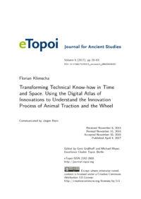 Cover Artikel Klimscha eTopoi Vol. 6