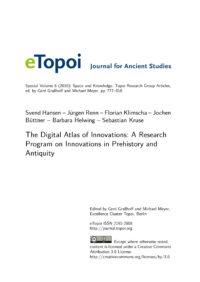 Cover Artikel Hansen et al. eTopoi SpV 6