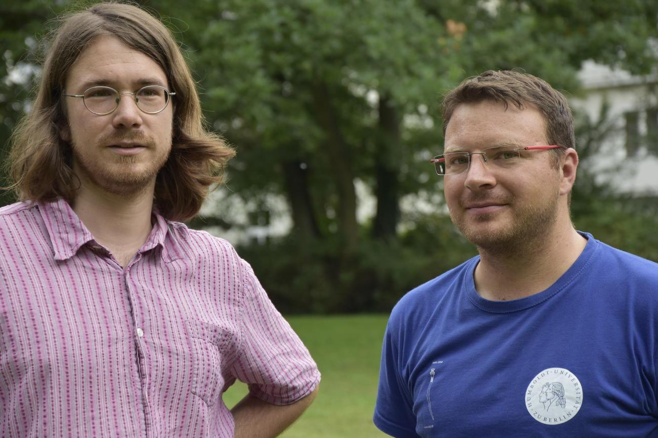 Das Forscherteam: Raphael Eser und Fabian Becker. Bildquelle: Nora Lessing