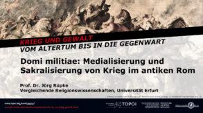 Jörg Rüpke | Domi militiae | 6.6.2018