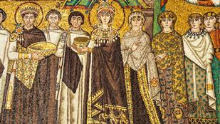 Mosaiken, San Vitale in Ravenna, Mitte 6. Jh. / Collage mit Fotos von Ruge, CC BY-SA 4.0 via commons.wikimedia.org