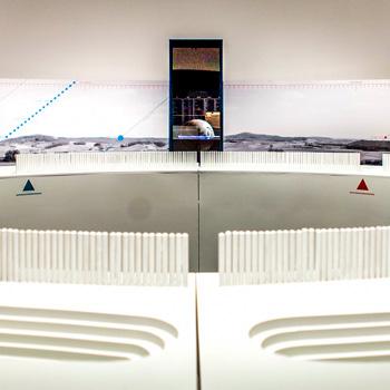 Kreisgrabenanlage in der Ausstellung Jenseits des Horizonts&quot